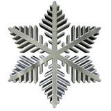 Zilveren sneeuwvlok vector illustratie