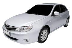 Zilveren snelle auto Royalty-vrije Stock Foto's