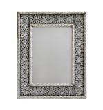 Zilveren spiegel Stock Foto
