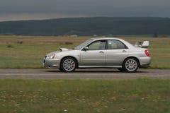 Zilveren sportwagen Stock Afbeeldingen