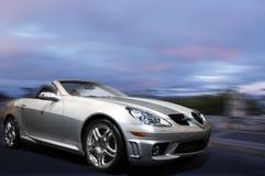 Zilveren sportwagen royalty-vrije stock foto