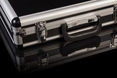 Zilveren staalkoffer royalty-vrije stock afbeelding