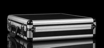 Zilveren staalkoffer royalty-vrije stock afbeeldingen