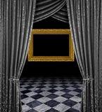Zilveren stadium gouden frame royalty-vrije stock foto