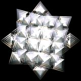 Zilveren ster royalty-vrije illustratie