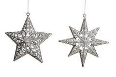 Zilveren sterren Stock Foto