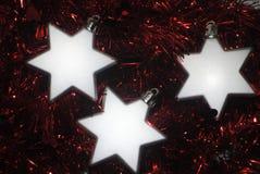 3 zilveren sterren (2) Stock Afbeeldingen