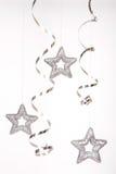 zilveren sterren Royalty-vrije Stock Foto's