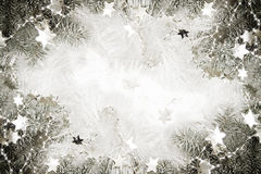 Zilveren sterrenachtergrond stock foto's