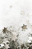 Zilveren sterrenachtergrond stock afbeelding