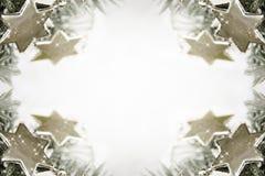Zilveren sterrenachtergrond royalty-vrije stock afbeeldingen