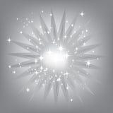 Zilveren steruitbarsting Stock Foto's