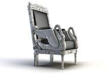 Zilveren stoel royalty-vrije illustratie