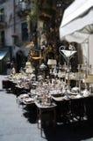 Zilveren straatmarkt Royalty-vrije Stock Fotografie