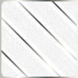 Zilveren strepen op witte vector als achtergrond Stock Foto's