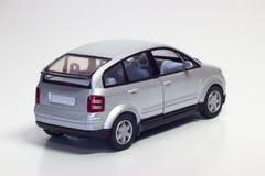 Zilveren stuk speelgoed auto Royalty-vrije Stock Afbeelding