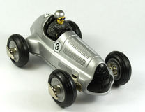 Zilveren stuk speelgoed bolid Stock Foto