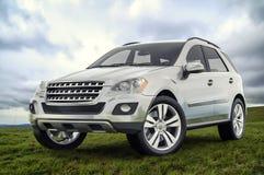 Zilveren SUV Stock Foto's