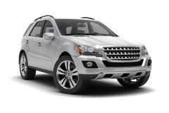 Zilveren SUV Royalty-vrije Stock Foto's