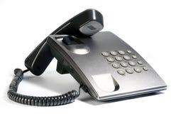 Zilveren telefoon Stock Afbeeldingen
