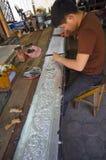 zilveren tempel Stock Fotografie