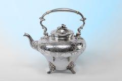 Zilveren theepot Stock Afbeeldingen