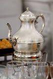 Zilveren theepot Royalty-vrije Stock Foto's