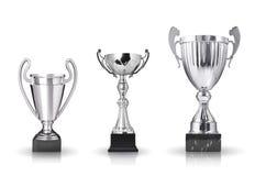 Zilveren trofeeën Stock Foto