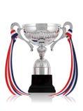Zilveren trofee met lint Royalty-vrije Stock Foto