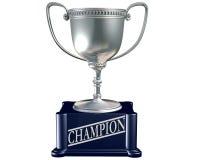 Zilveren trofee voor de kampioen Stock Foto