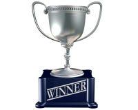 Zilveren trofee voor de winnaar Royalty-vrije Stock Fotografie