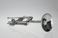 Zilveren trompet royalty-vrije stock fotografie