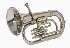 Zilveren tuba Stock Foto