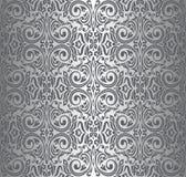 Zilveren uitstekend behang Royalty-vrije Stock Foto's