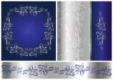 Zilveren uitstekende stijl Royalty-vrije Stock Afbeeldingen
