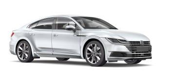 Zilveren Uitvoerende Auto Royalty-vrije Stock Fotografie