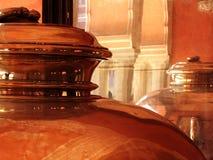 Zilveren Urnen Royalty-vrije Stock Fotografie