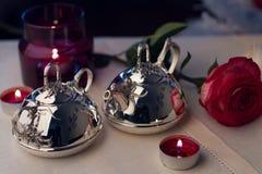 Zilveren Vaatwerk Royalty-vrije Stock Afbeeldingen