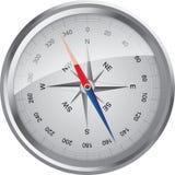 Zilveren vectorkompas Stock Fotografie