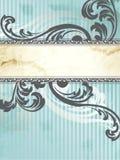 Zilveren Victoriaanse uitstekende verticale banner, Royalty-vrije Stock Foto's