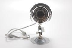 Zilveren videotoezichtcamera Stock Afbeeldingen