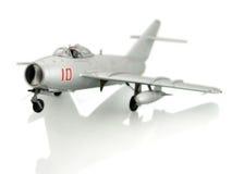 Zilveren vliegtuig Stock Foto's