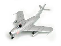 Zilveren vliegtuig Royalty-vrije Stock Foto's