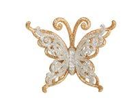 Zilveren vlinder Stock Afbeeldingen