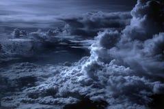 Zilveren Voering in de Wolken stock foto's