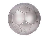 Zilveren voetbal Royalty-vrije Stock Afbeelding