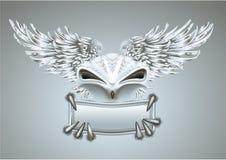 Zilveren vogel Royalty-vrije Stock Afbeelding