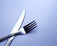 Zilveren vork Stock Afbeeldingen