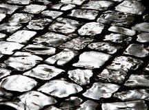 Zilveren weg stock afbeelding
