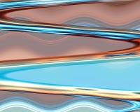 Zilveren zachte golven zoals vormen, abstract ontwerp Royalty-vrije Stock Fotografie